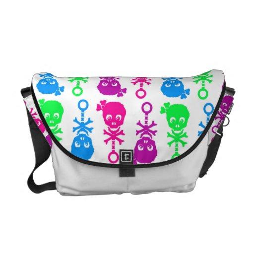 Skull Rattle Girl Diaper Bag/Utility Bag Messenger Bag