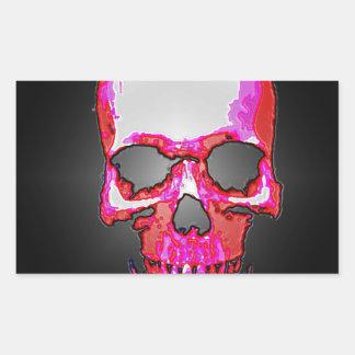 Skull Rectangular Sticker