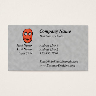 Skull Red and black. Primitive Style. Business Card