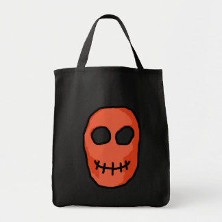 Skull Red and black. Primitive Style. Tote Bag