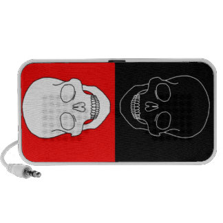 skull red and black notebook speakers