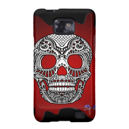 SKULL RED BACKGROUND PRODUCTS GALAXY S2 COVER