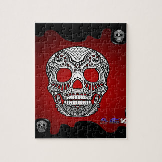 SKULL RED BACKGROUND PRODUCTS PUZZLE