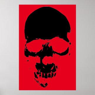 Skull Red Black Fantasy Art Heavy Metal Rock Poster