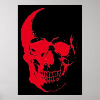 Skull Red Black Heavy Metal Rock Fantasy Art Poster