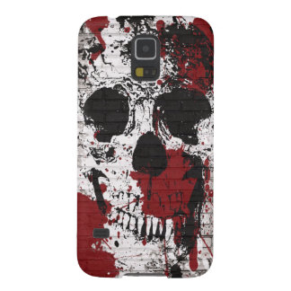 Skull Red Paint Splatter Graffiti Galxay5 Case Galaxy S5 Case