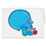 Skull ~ Red Rose Tattoo Skull Fantasy Art Greeting Card