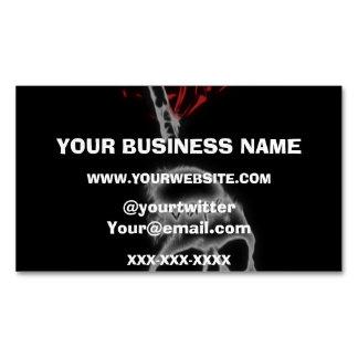 Skull Red Smoke Vape Business Card Magnet