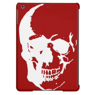 Skull Red White Metal Fantasy Art iPad Air Case