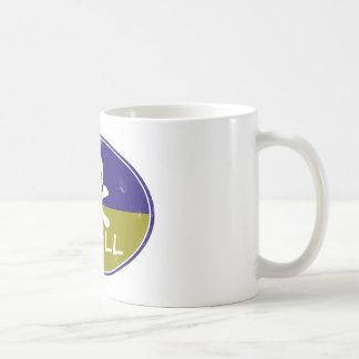 skull retro design coffee mug