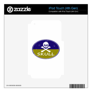 skull retro design decal for iPod touch 4G