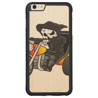 skull ride a big tricycle carved maple iPhone 6 plus bumper case