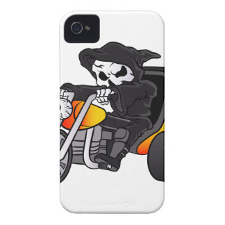 skull ride a big tricycle Case-Mate iPhone 4 cases