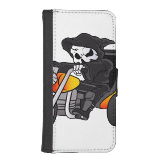 skull ride a big tricycle iPhone SE/5/5s wallet