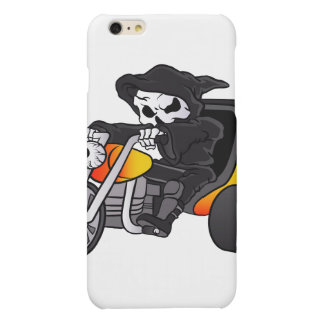 skull ride a big tricycle matte iPhone 6 plus case