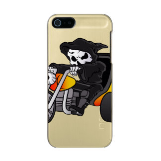 skull ride a big tricycle metallic iPhone SE/5/5s case
