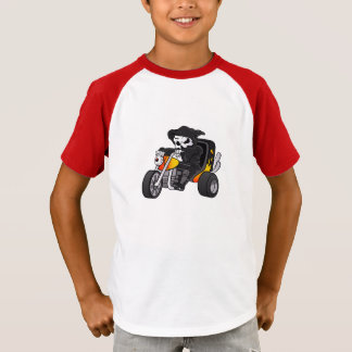 skull ride a big tricycle T-Shirt