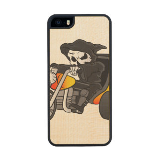 skull ride a big tricycle wood phone case for iPhone SE/5/5s