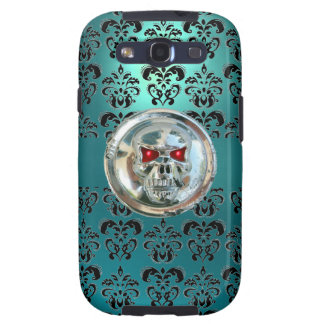 SKULL RIDERS DAMASK blue red black Galaxy S3 Case
