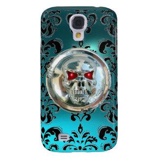SKULL RIDERS DAMASK GEM aquamarine Galaxy S4 Case