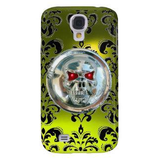SKULL RIDERS DAMASK GEM Yellow TOPAZ Samsung Galaxy S4 Cover