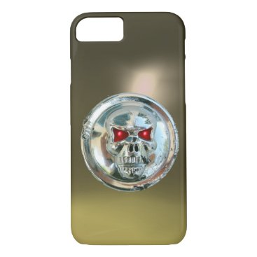 Halloween Themed SKULL RIDERS grey iPhone 8/7 Case