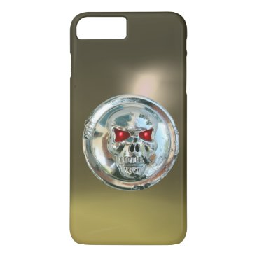 Halloween Themed SKULL RIDERS grey iPhone 8 Plus/7 Plus Case