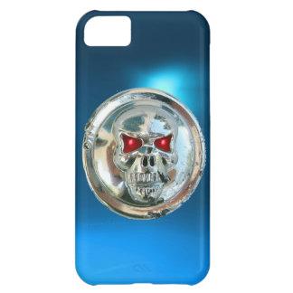 SKULL RIDERS MONOGRAM blue Case For iPhone 5C