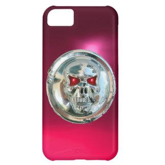 SKULL RIDERS MONOGRAM pink iPhone 5C Case