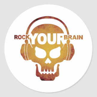 Skull-Rock-03 Classic Round Sticker