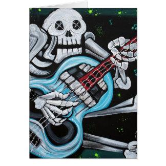 Skull Rock Guitar Card