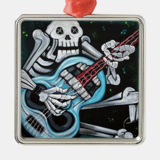 Skull Rock Guitar Metal Ornament