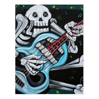 Skull Rock Guitar Postcard