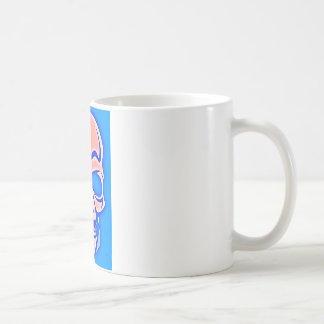 Skull Rose in blue fund Coffee Mug