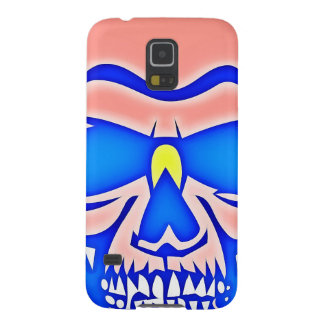 Skull Rose in blue fund Galaxy S5 Cover
