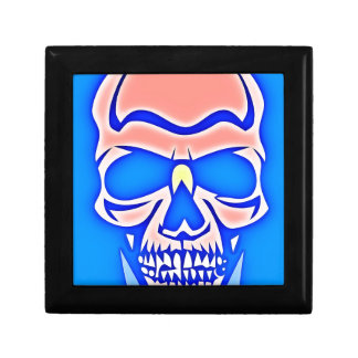 Skull Rose in blue fund Gift Box