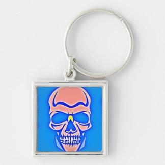 Skull Rose in blue fund Keychain