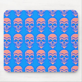 Skull Rose in blue fund Mouse Pad