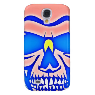 Skull Rose in blue fund Samsung Galaxy S4 Case