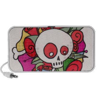 skull rose iPod speakers
