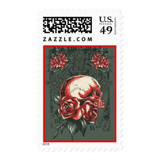 Skull rose Stamp