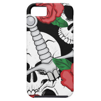 Skull, Roses and Dagger iPhone 5 Covers