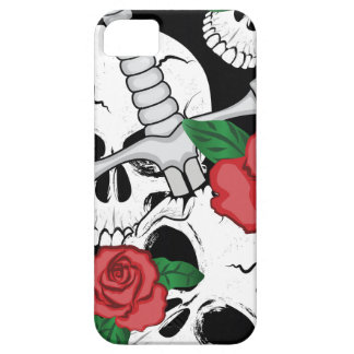 Skull, Roses and Dagger iPhone SE/5/5s Case