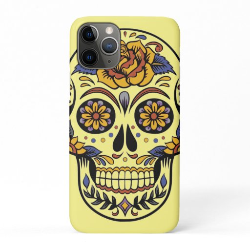 Skull Roses iPhone 11 Pro Case