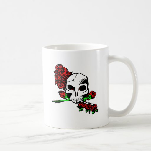 Skull & Roses Coffee Mugs