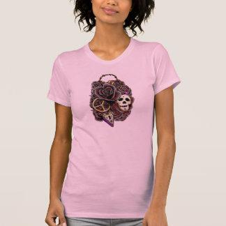 Skull Roses Lock & Key T-Shirt