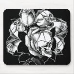 Skull Roses Mousepad