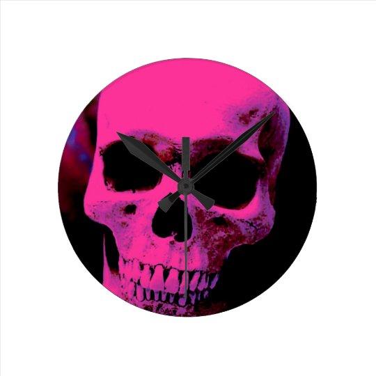 Skull Round Clock