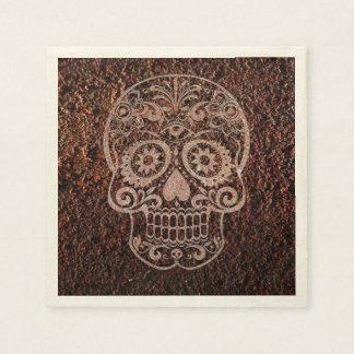 Skull,rusty metal 04 paper napkins