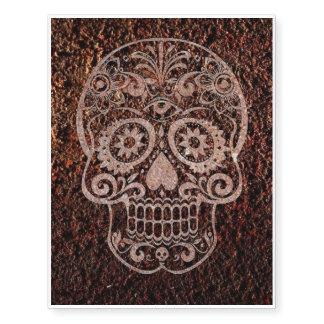 Skull, rusty temporary tattoos